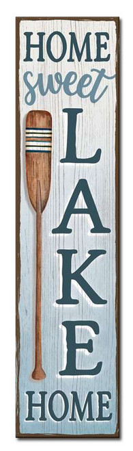Home Sweet Lake Home - Outdoor Standing Lawn Sign 6x24