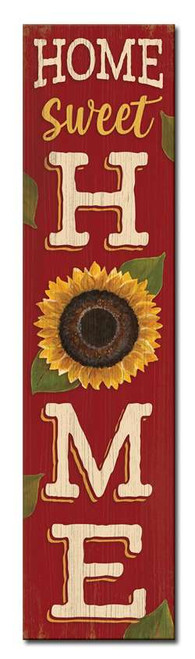 Home Sweet Home with Sunflower - Outdoor Standing Lawn Sign 6x24