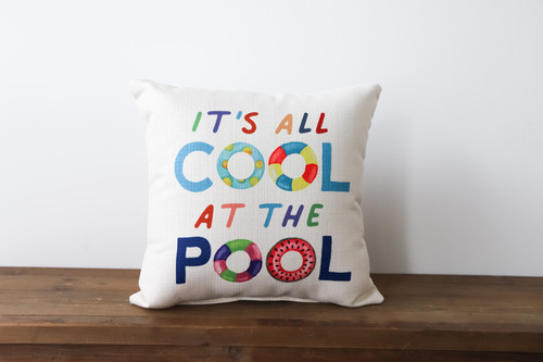 It's All Cool At The Pool Square Pillow