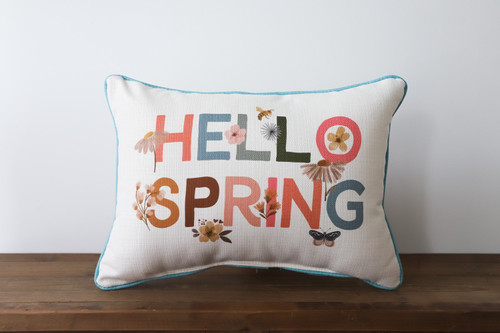 Hello Spring Rectangle Pillow