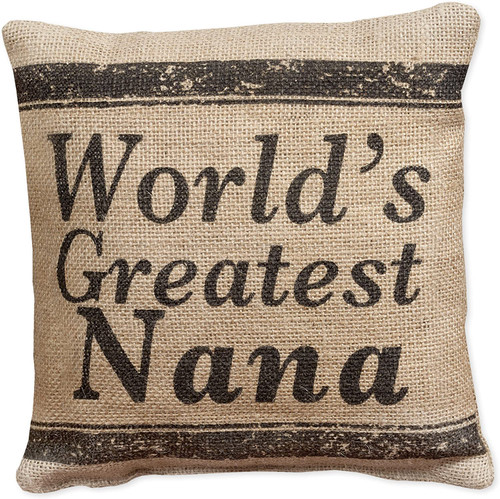 World's Greatest Nana - Small Burlap Pillow