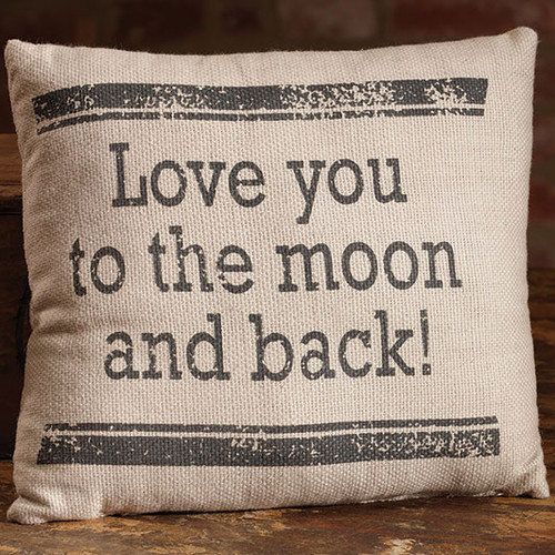 Love You To The Moon And Back! - Small Cotton Pillow