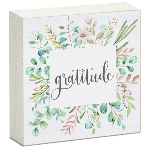 Gratitude - Mini Square Block Sign