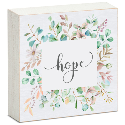 Hope - Mini Square Block Sign