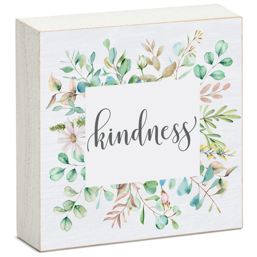 Kindess - Mini Square Block Sign