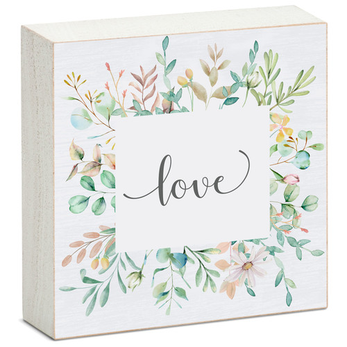 Love - Mini Square Block Sign