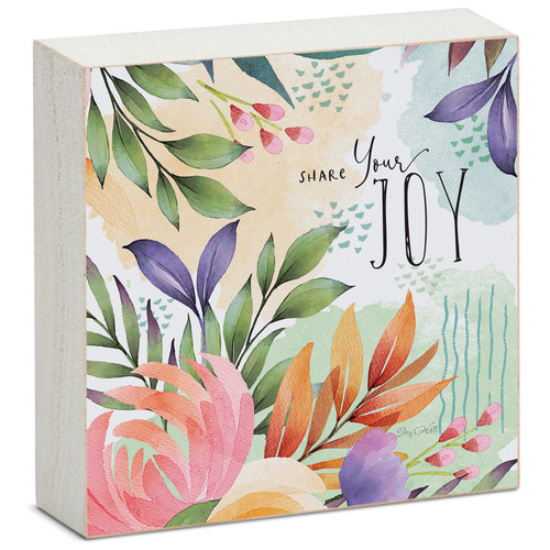 Share Your Joy - Mini Square Block Sign