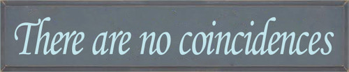10x48 Slate board with Baby Aqua text  There Are No Coincidences