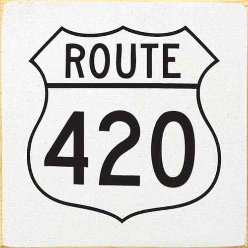 Route 420 Wood Sign 7x7