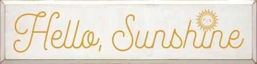 Hello, Sunshine - Large Wood Sign 9x36