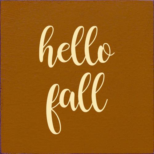 Hello Fall Wood Sign 7x7