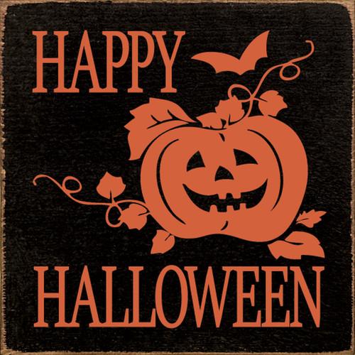 Happy Halloween Wood Sign 7x7