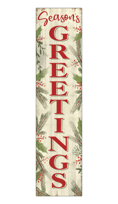 Seasons Greetings - Outdoor Standing Lawn Sign 6x24