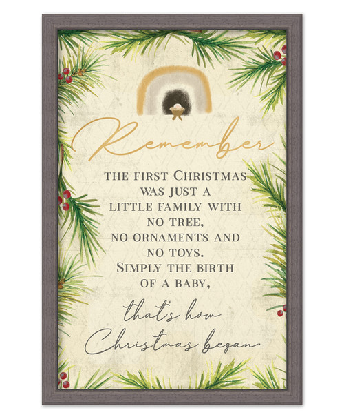 Remember The First Christmas Was Just A Little Family With No Tree, No Ornaments And No Toys. Simply The Birth Of A Baby, That's How Christmas Began.