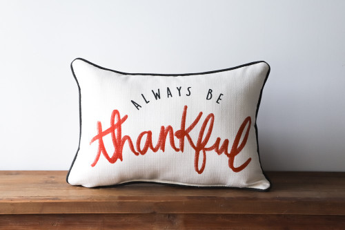 Always Be Thankful Rectangle Pillow