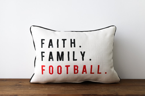Faith. Family. Football. Rectangle Pillow