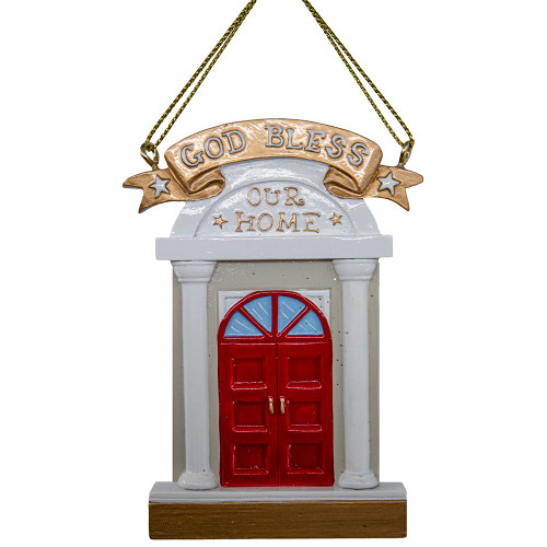 God Bless Our Home Door Ornament 3.5in.