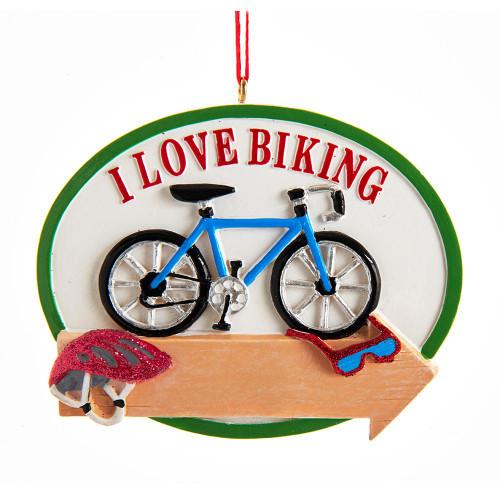 I Love Biking Ornament 2.75in.