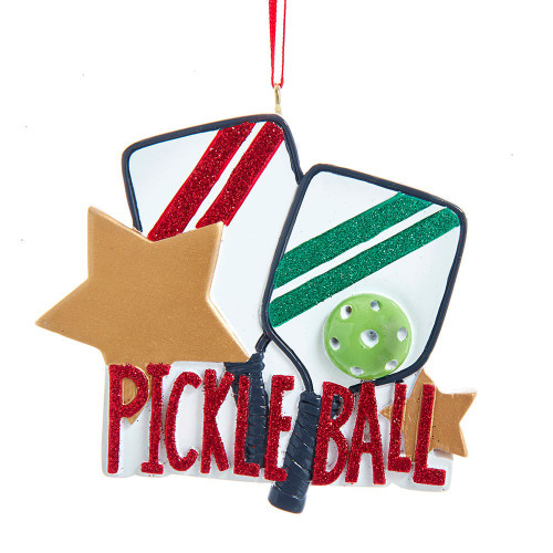 Pickle Ball Ornament 3.25in.