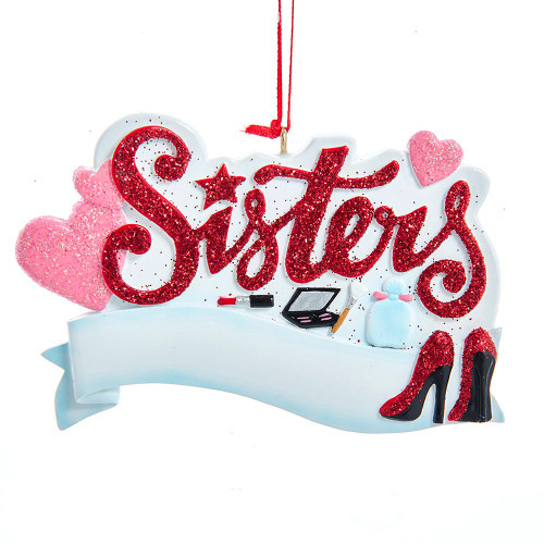 Girly Sisters Ornament 2.625in.