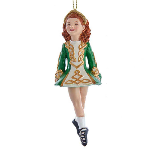 Irish Dancing Girl Ornament 5in.