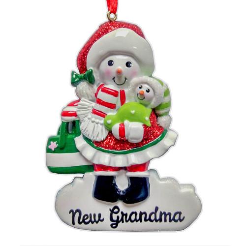 New Grandma Snow Woman Ornament 4.5in.