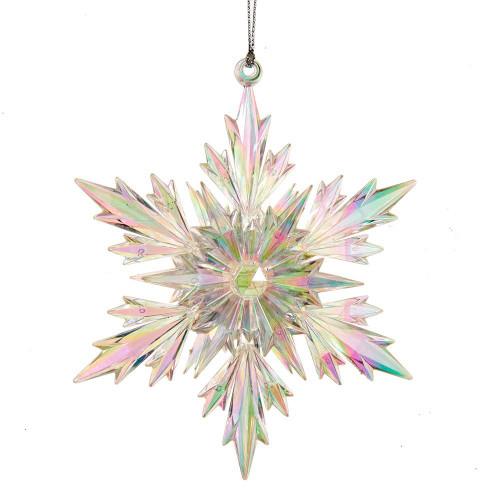 Acrylic Iridescent Snowflake Ornament