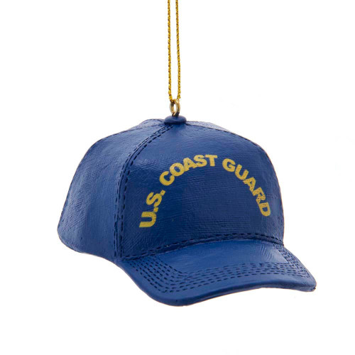 Blue Coast Guard Hat with Yellow writing
