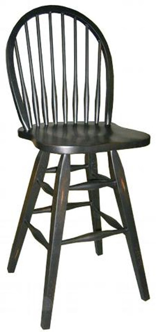 30in. Solid Birch Swivel Windsor Barstool