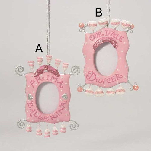 Pink Ballerina Photo Frame Ornaments