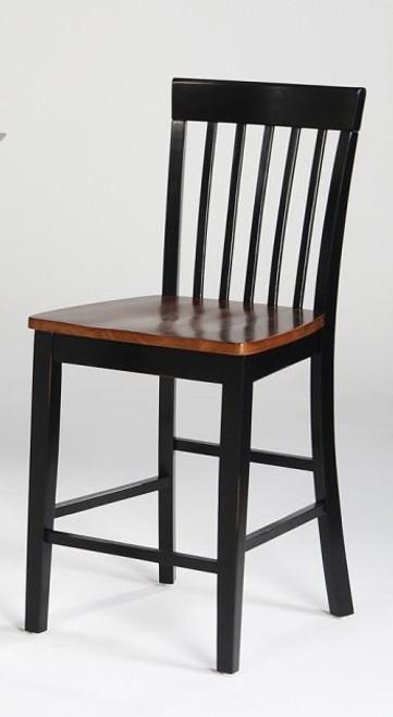 Solid Wood Slat Back  24in. Barstool