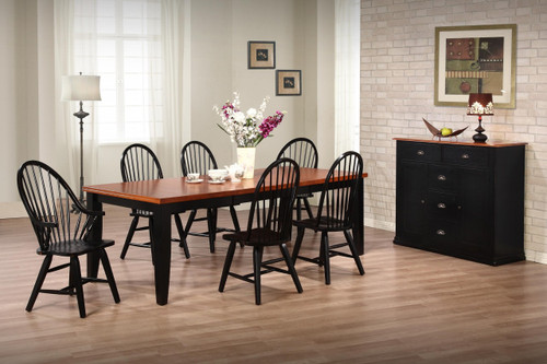 Urban Country Two Tone  Dining Set  Solid Birch Table + 4 Windsor Chairs
