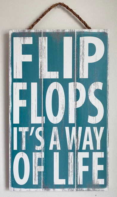Wood Sign - Flip Flops it's a Way of Life