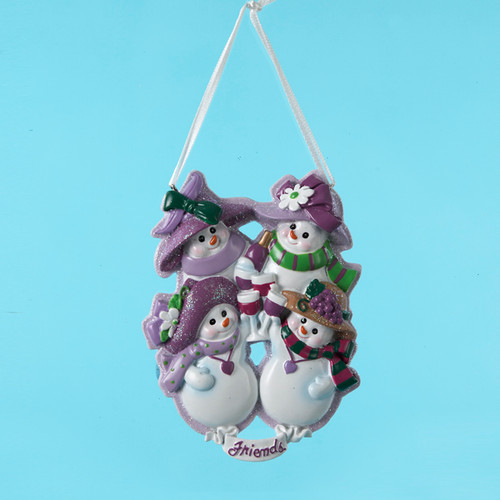 Four Snow Friends Ornament