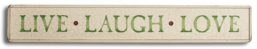 Wood Sign - Live Laugh Love