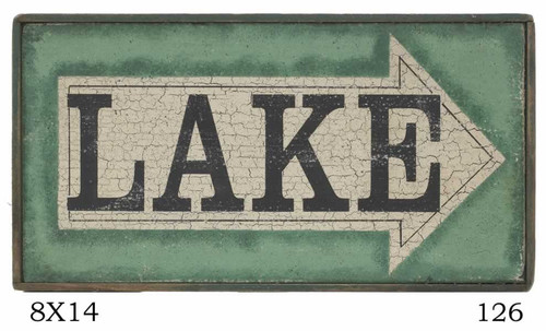 Green Lake Sign With Arrow