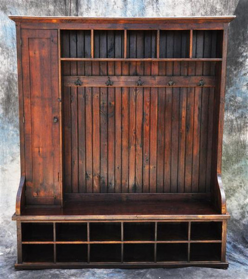 "Reclaimed Wood Mudroom Organizer 72"" Wide Custom sizes available"