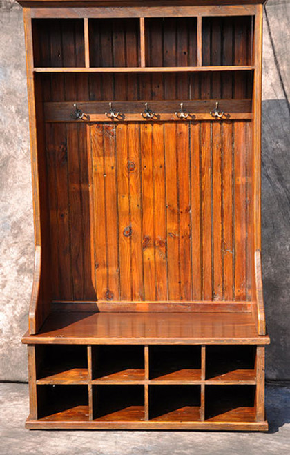 "Mudroom Organizer with Cubbies 48"" Rustic Reclaimed Wood  Custom Sizes available"