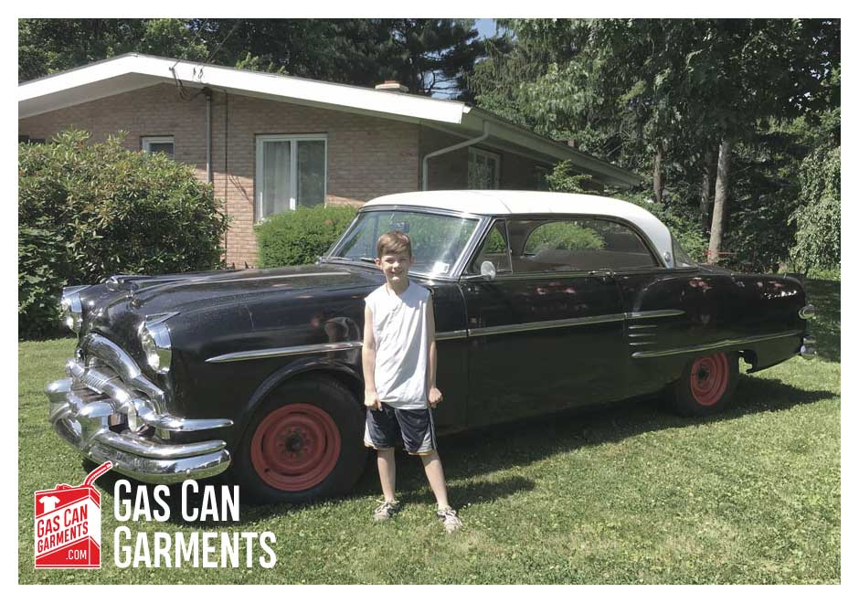 Gas Can Garments & Dad's 1954 Packard Pacific