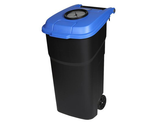Probbax Roll-Out Container 100L With Bottle Lid - Black/Blue