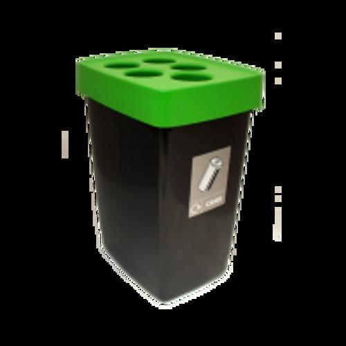 Beca Streamline Can Bin (Black Top) - 60 litres