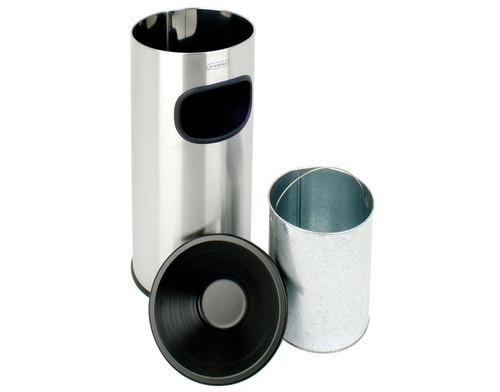 Probbax Eco Ash/Trash 30L - 8 Gal - Mirror Stainless Steel - Mirror Stainless Steel