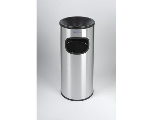 Probbax Eco Ash/Trash 30L - 8 Gal - Satin Stainless Steel - Satin Stainless Steel