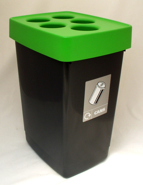 Beca Streamline Can Bin (Green top) - 60 litres