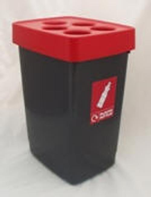 Beca Streamline Plastic Bottle Bin (Red Top) - 60 litres