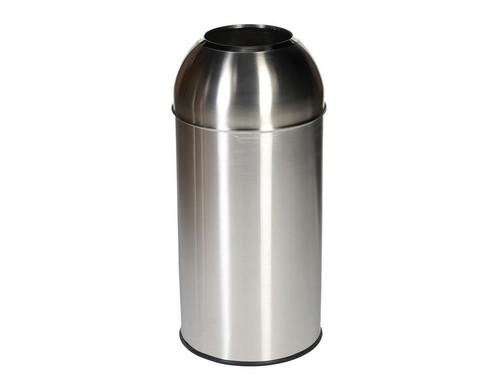 Probbax Open Dome Bin - 40L - Satin Stainless Steel