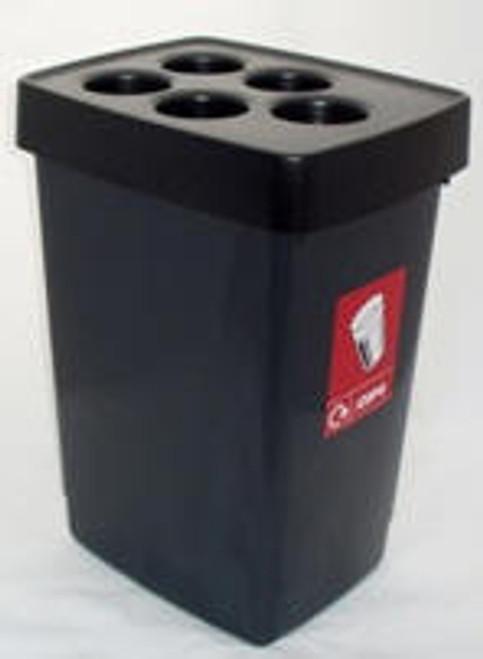 Beca Streamline Cup Bin (Black Top) - 500 cups
