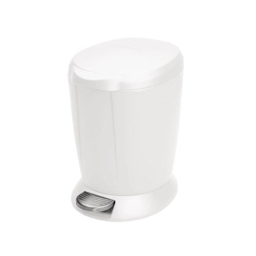 simplehuman Round Plastic Pedal Bin 6 Litre, White