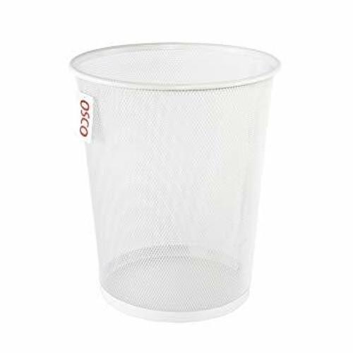 Osco White Wiremesh - Round Bin 27.5 cm High - 10.9L