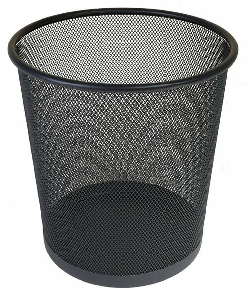 Osco Black Wiremesh - Round Bin 35 cm High - 18.3L